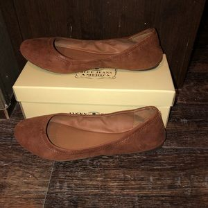 Lucky leather ballet flats